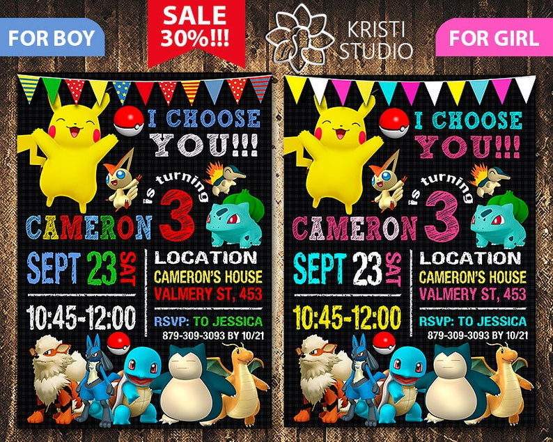 photograph regarding Free Printable Pokemon Invitations identified as Pokemon Invitation - Pokemon Invite - Pokemon Birthday - Pokemon Birthday Invitation - Pokemon Get together - Pokemon Printable - Pokemon Card