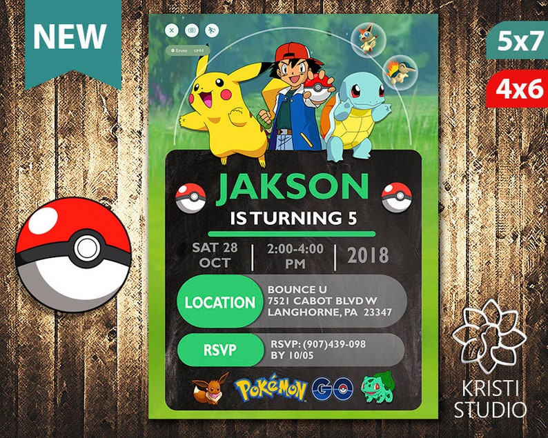 photograph about Free Printable Pokemon Cards named Pokemon Invitation - Pokemon Invite - Pokemon Birthday - Pokemon Birthday Invitation - Pokemon Occasion - Pokemon Printable - Pokemon Card