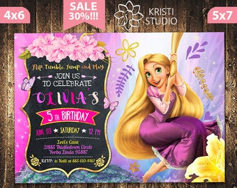 Rapunzel invitation Etsy