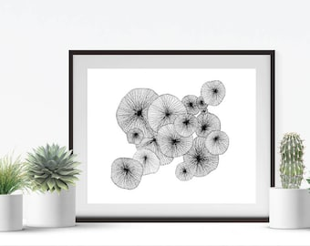 Minimalist Art Print - Small Art - 8x10 Art Print - Black and White Art - Giclee Art Print - Contemporary Wall Art