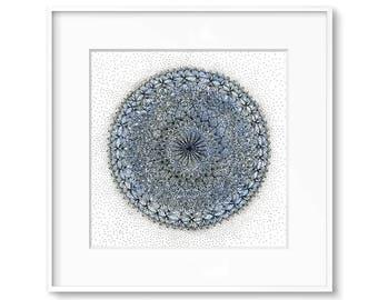 Mandala Wall Art - Mandala Painting - Mandala Art - Small Art - Mandala Art Print - Mandala - Geometric Art Print - 8x8 inch Giclee Print