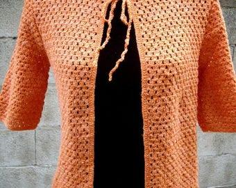 Handmade short sleeve crochet Cardigan