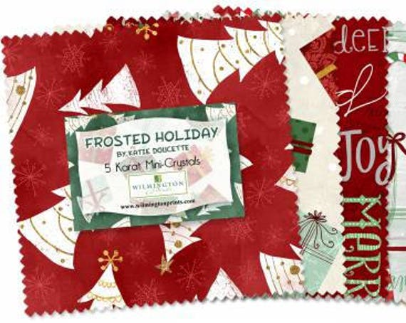 "Frosted Holiday Charm Pack (5"" square) 24 pieces"