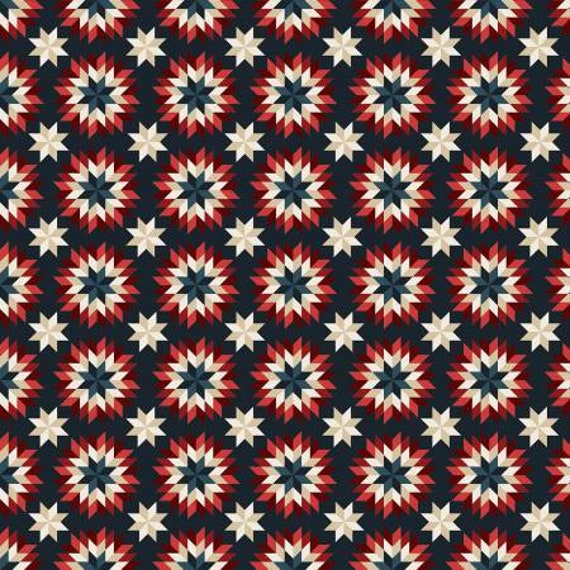 American Heritage Blue Quilt Stars