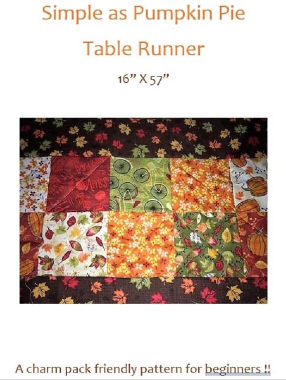Simple as Pumpkin Pie Table Runner Kit