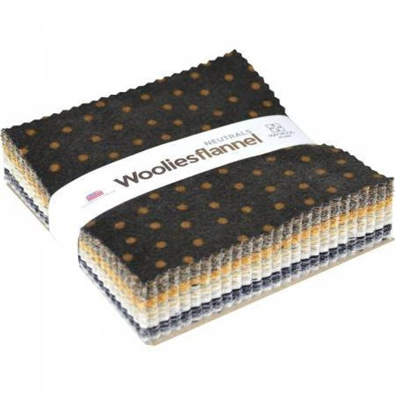 Woolies Flannel Neutrals 5in. Squares