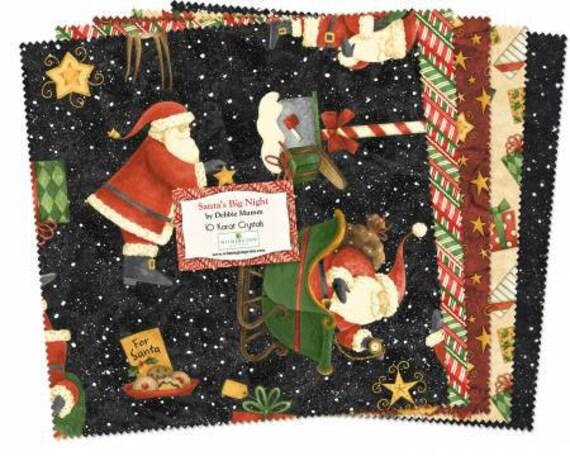"""Santa's Big Night 10"""" squares"""