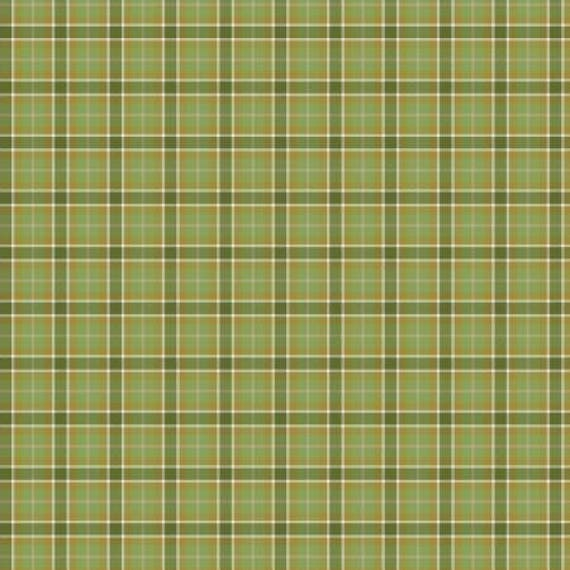 Green Plaid Print