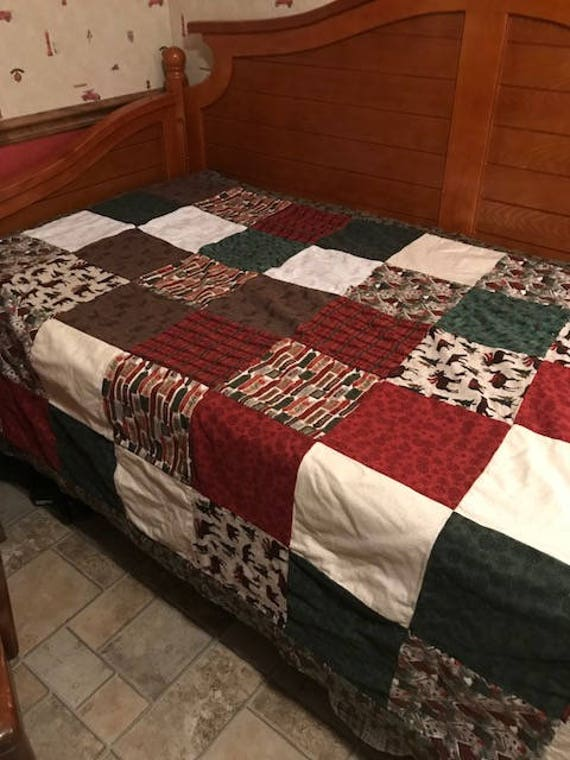 "Winter Raggs Quilt 56"" x 72"""
