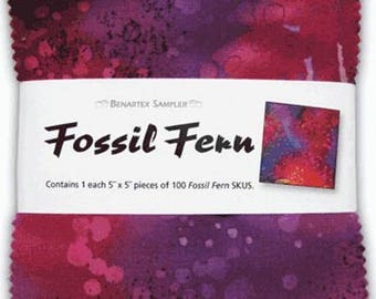 """Fossil Fern 5"""" Squares, Package of 100"""