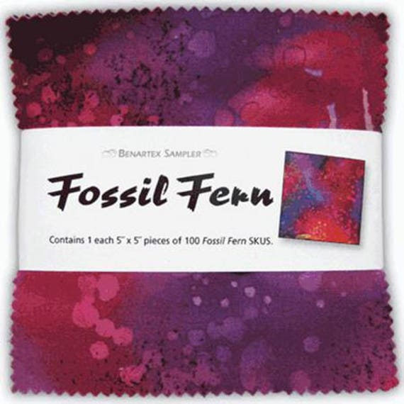 "Fossil Fern 5"" Squares, Package of 100"
