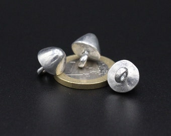 10 pcs set buttons cone shaped medieval