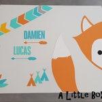 Souvenir box or custom-made box Fox theme