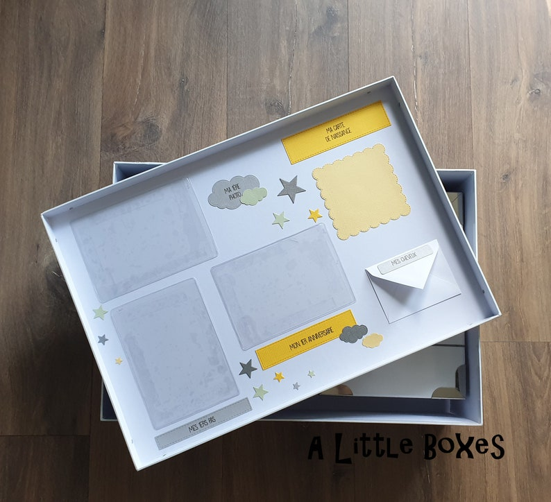 Balloon-themed birth memory box
