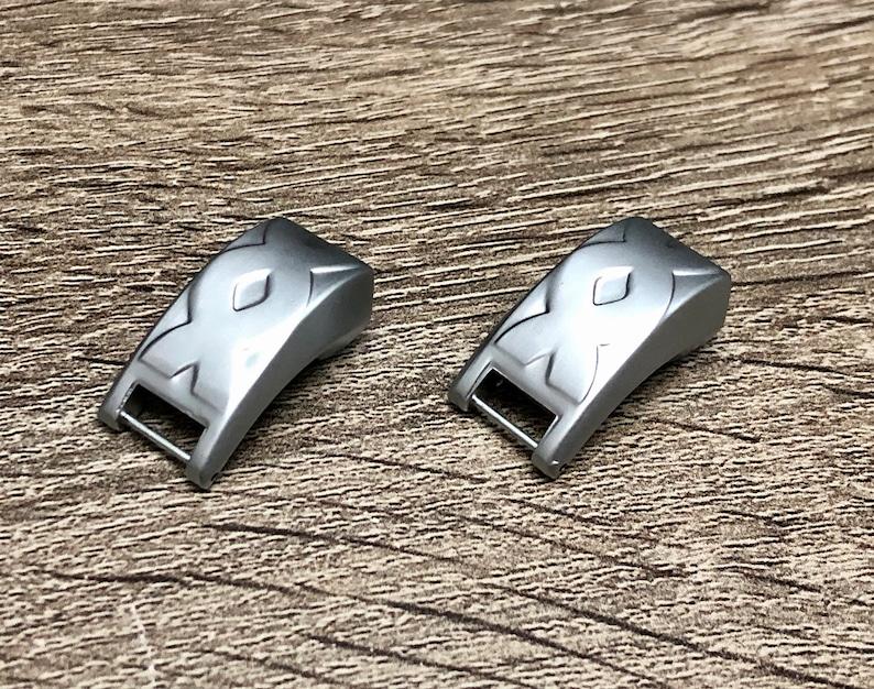 Set 2 Pcs Connectors for Fitbit Alta HR Matte Silver Replacement Attachment Parts for Fitbit Alta HR Band DIY Fitbit Alta Bracelet Supply