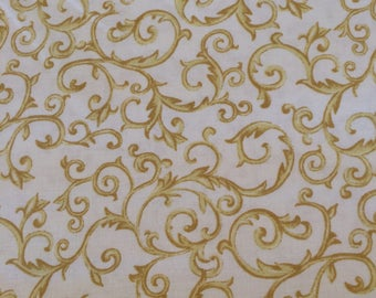 Gold Scrolls Fabric