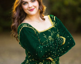 Princess Fiona Costume | Prom Dress | Evening Gown | Velvet Night Gown | Cosplay | Custom Tailored - made to fit