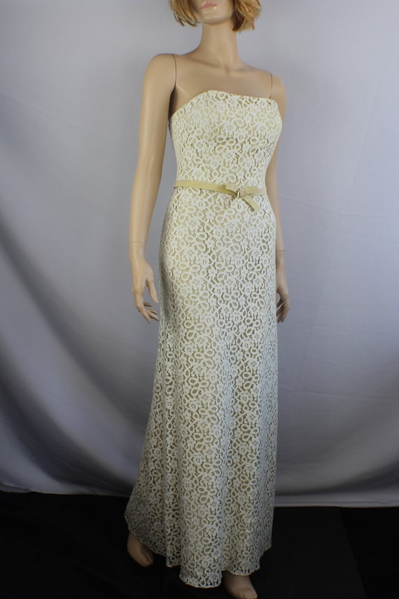 80s prom dress, vintage 1980s dress, lace vintage… - image 7