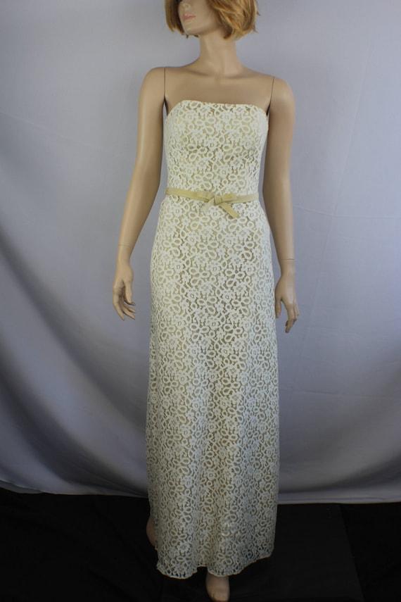 80s prom dress, vintage 1980s dress, lace vintage… - image 2