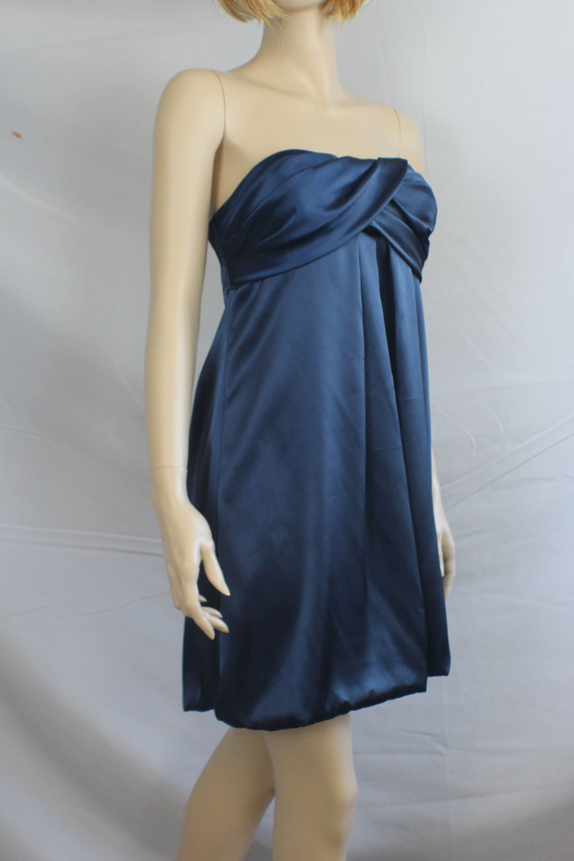 90s prom dress vintage 1990s dress navy blue strapless   Etsy