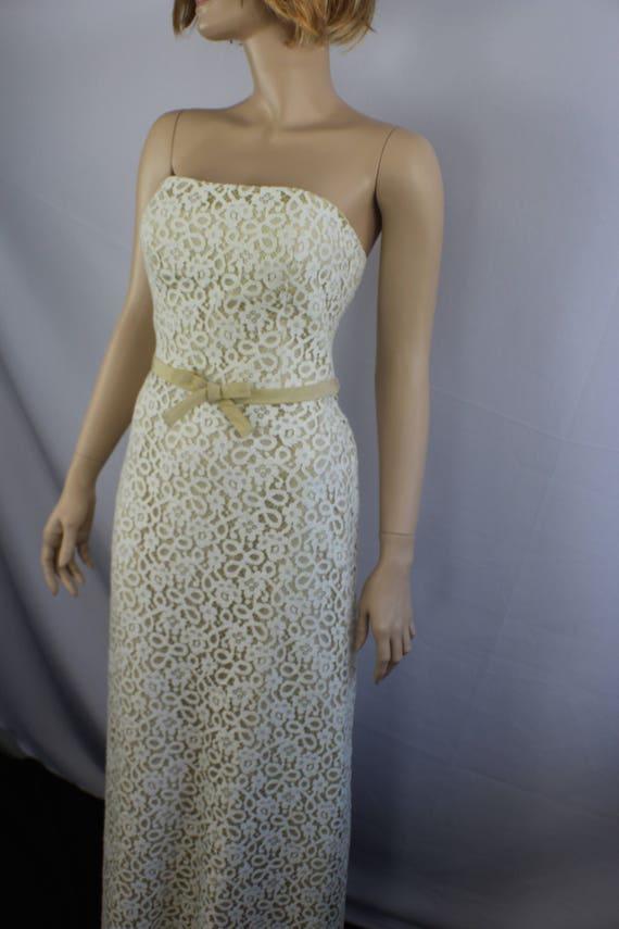 80s prom dress, vintage 1980s dress, lace vintage… - image 6