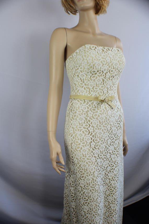 80s prom dress, vintage 1980s dress, lace vintage… - image 5