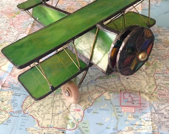 Stained Glass Airplane Kaleidoscope