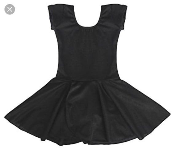 Black Toddler Dress Leotard Dressleotarddance Outfit Etsy