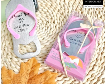 0da4ed5a082bc Fast Shipping Worldwide  Distinct Interior 50pcs Personalized Flip-Flop  Bottle Opener Beach Themed Wedding Favors  Birthday Favors