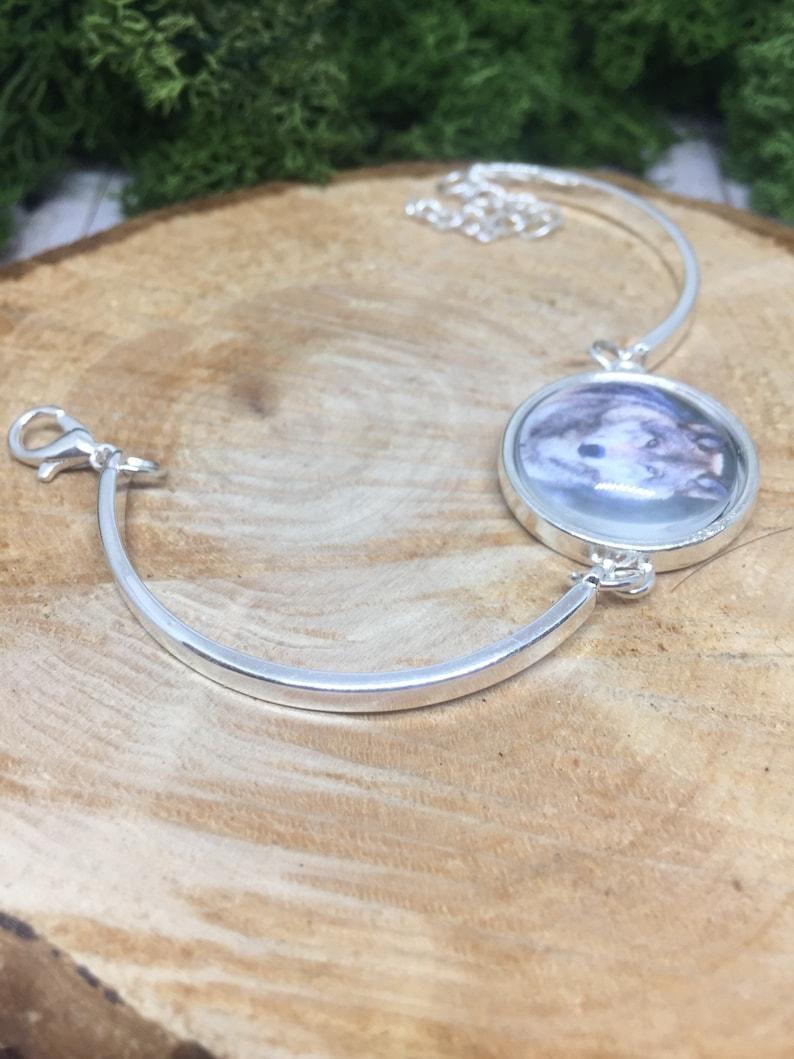 Wolf bracelet wolves bracelet Animal bracelet Native american Wolf gift Wolf jewelery Silver wolf bangle Native Silver wolf jewelry Wolves