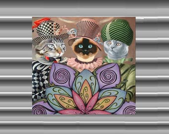 Very large magnet with cat: the three wise men