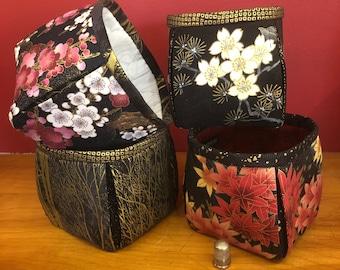 Fabric Baskets with Japanese Fabrics