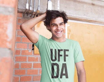 Minnesota T-Shirt Uff Da | Heather Mint Green | Minnesota Shirt | Minnesota Tee