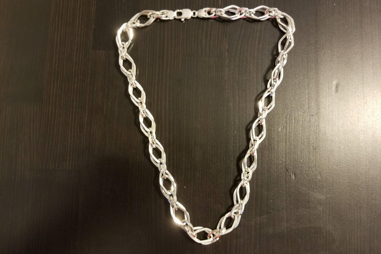 Silver Unique Chain For Men Heavy Silver Necklace Mens Double Etsy