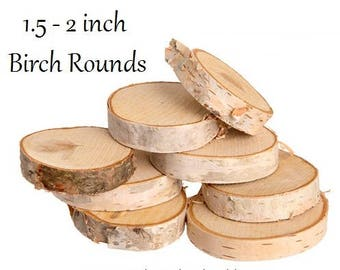 Rustic Birch Rounds, Wood Rounds, Tree Slices