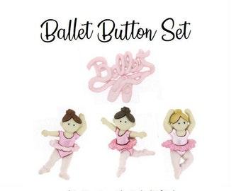 DANCERS ~ Sewing ~ Scrap JESSE JAMES BUTTONS DRESS IT UP LITTLE BALLERINAS