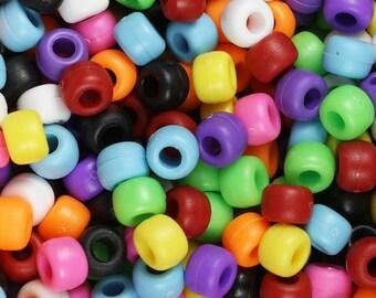 Jewellery Crafts Pony Beads 12 x mixed Zebra Beads Key Rings Dummy