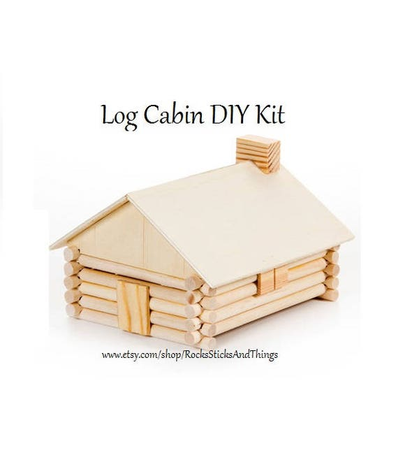 Log Cabin Diy Kit Kid Crafts Wood Project