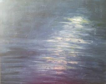 Soothing Moonlight, original abstract acrylic painting