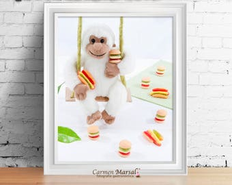 Wall decor Children's room. Art for children. Printing laminates. Download images. Dolls and colors in children's room