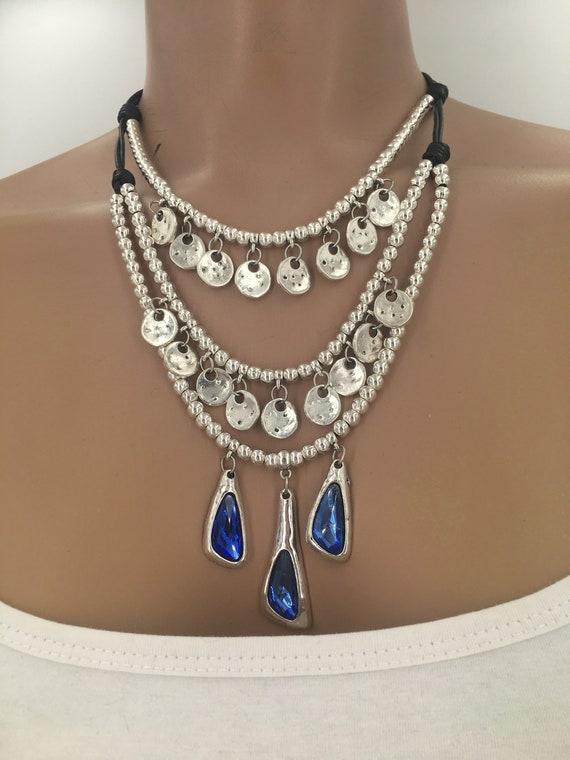 silver necklace Collar mujer uno de 50 style woman necklace collar zamak vintage necklace boho necklace