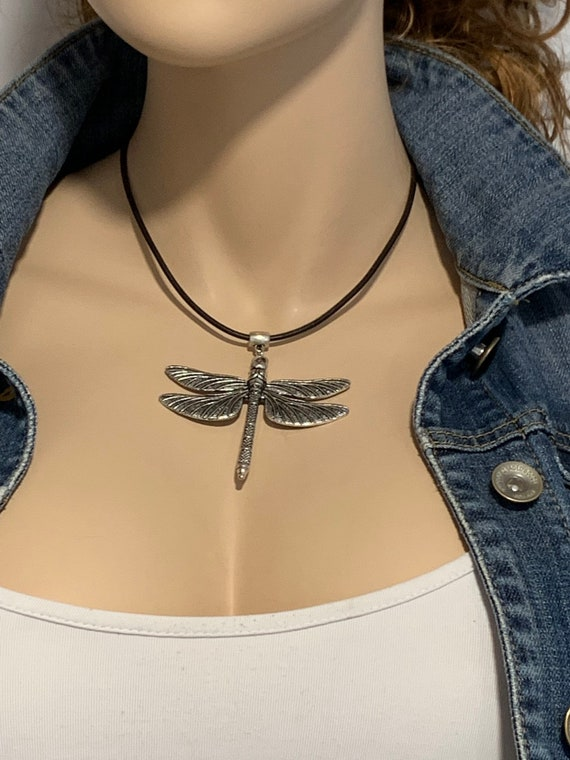 silver beads leather earrings zamak earrings dragonfly earrings butterfly earrings Woman Boho leather earrings bohemian earrings