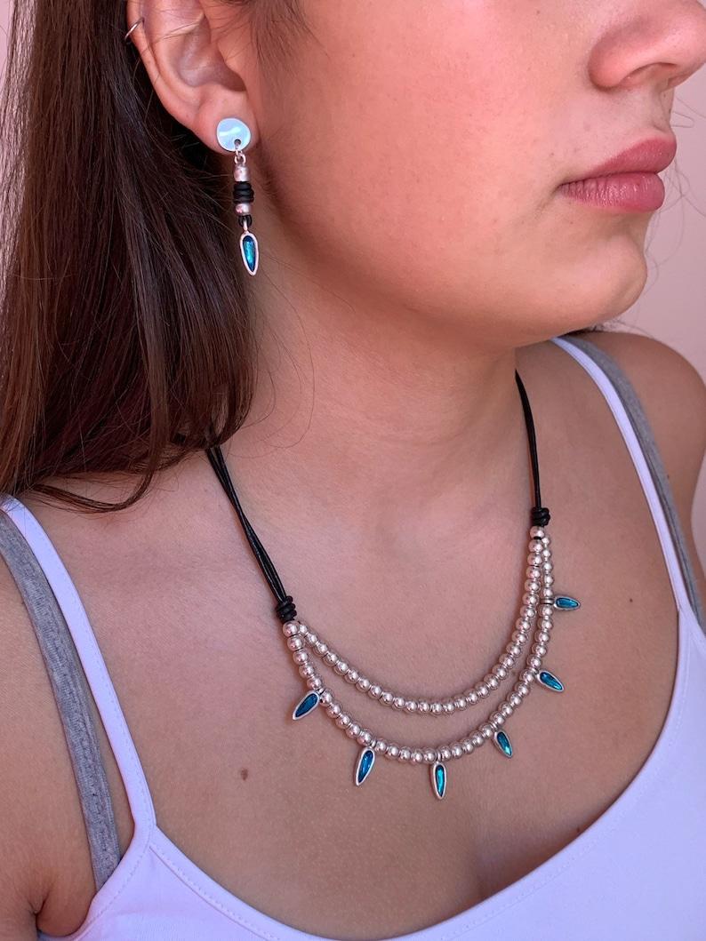 woman vintage earrings bohemian earrings boho earrings crystal earrings glass earrings Woman leather earrings