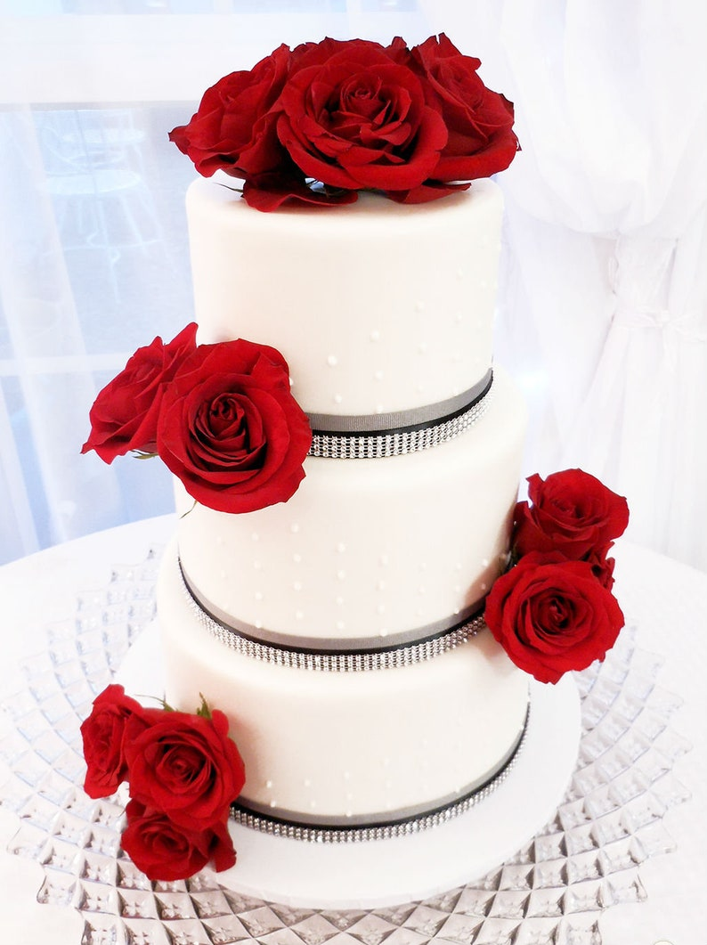 Wedding Fake Cake White 3 Tier Stacked 20 Inch Etsy