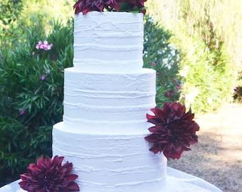 Dummy cake Wedding Fake Cake White Three Tier Stacked 12 Inch