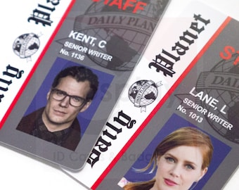 picture about Clark Kent Press Pass Printable called Clark kent Etsy