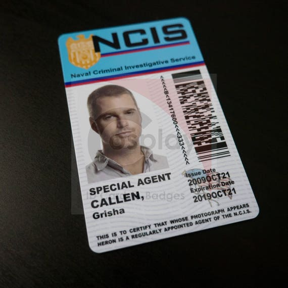 NCIS Los Angeles Cosplay ID Badge Special Agent G. Callen   Etsy