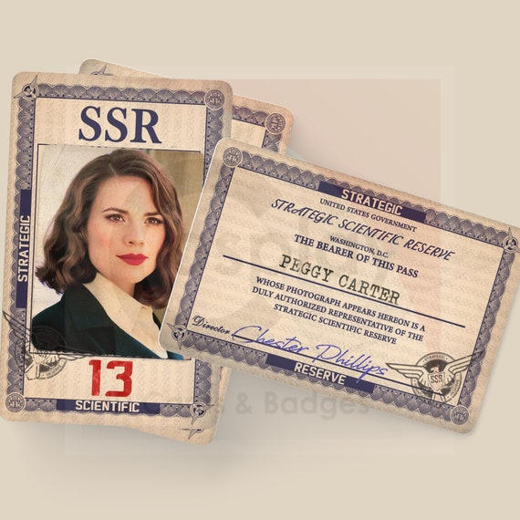 • SHIELD • AGENT PEGGY CARTER • SSR STRATEGIC SCIENTIFIC RESERVE • COSPLAY PROP