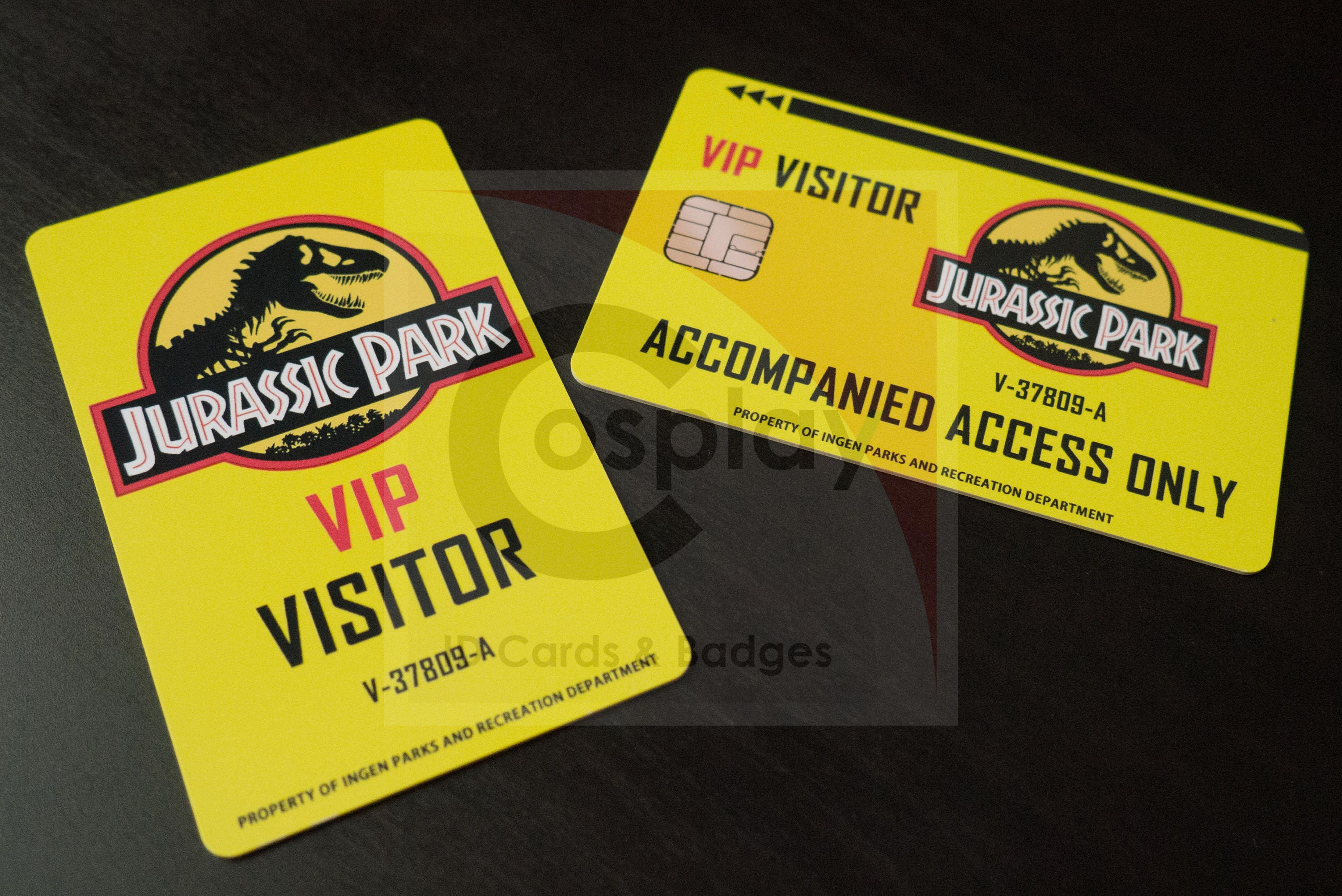Jurassic Park World Visitor ID Badge