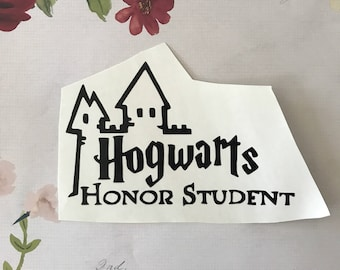 Hogwarts honor student decal